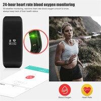Health Smart Bracelet For Men Women Heart Beat Monitor Alarm Blood Oxygen Detection Watches Wristband 0