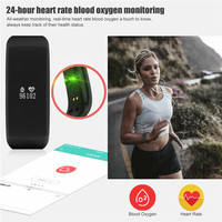 Gezondheid Smart Armband Mannen Vrouwen Heart Beat Monitor Alarm Bloed Zuurstof Detectie Horloges Polsband 0.66 inch LED Sport Klok