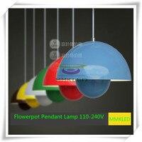 Verner Panton Flowerpot Pendant Lamp Ceiling Light Metal Modern Design White Blue Red Green Yellow E27
