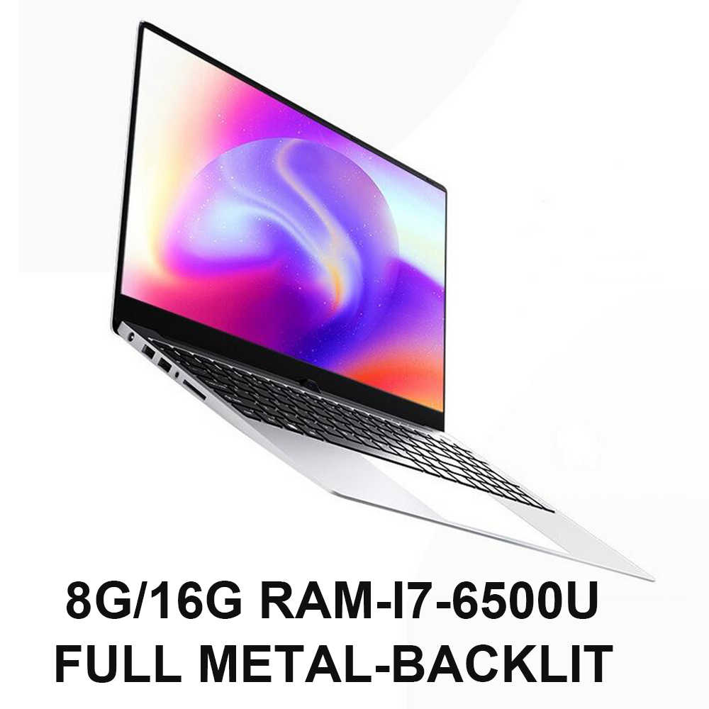 15.6 Inci Laptop Gaming I7 8G RAM 1TB 512G 256G 128G Tubuh Penuh Logam Notebook komputer Backlit Ultrabook untuk GTA5 Call Of Duty