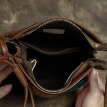 2017 Women Handbag Genuine Leather Vintage Shoulder Messenger Bag Handmade Cow Leather Bags Women Geometric Design Crossbody bag