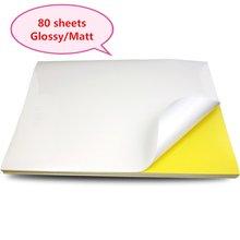 A4 наклейки бумажные этикетки листы для струйных/лазерных принтеров/копиров