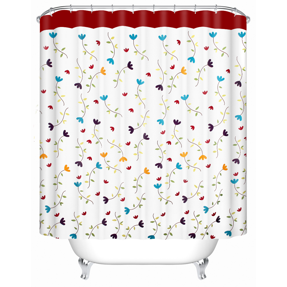 Feiqiong Marque Vogue Conception rideaux De Bain Laneige Fleur Rideau De Douche 72 X 72 100% Polyester avec crochets