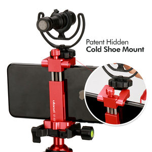 Image 4 - Ulanzi Metal Phone Tripod Mount With Cold Shoe Universal Clip Holder For SmartPhone Microphone Light For Iphone7 Samsung ST 03