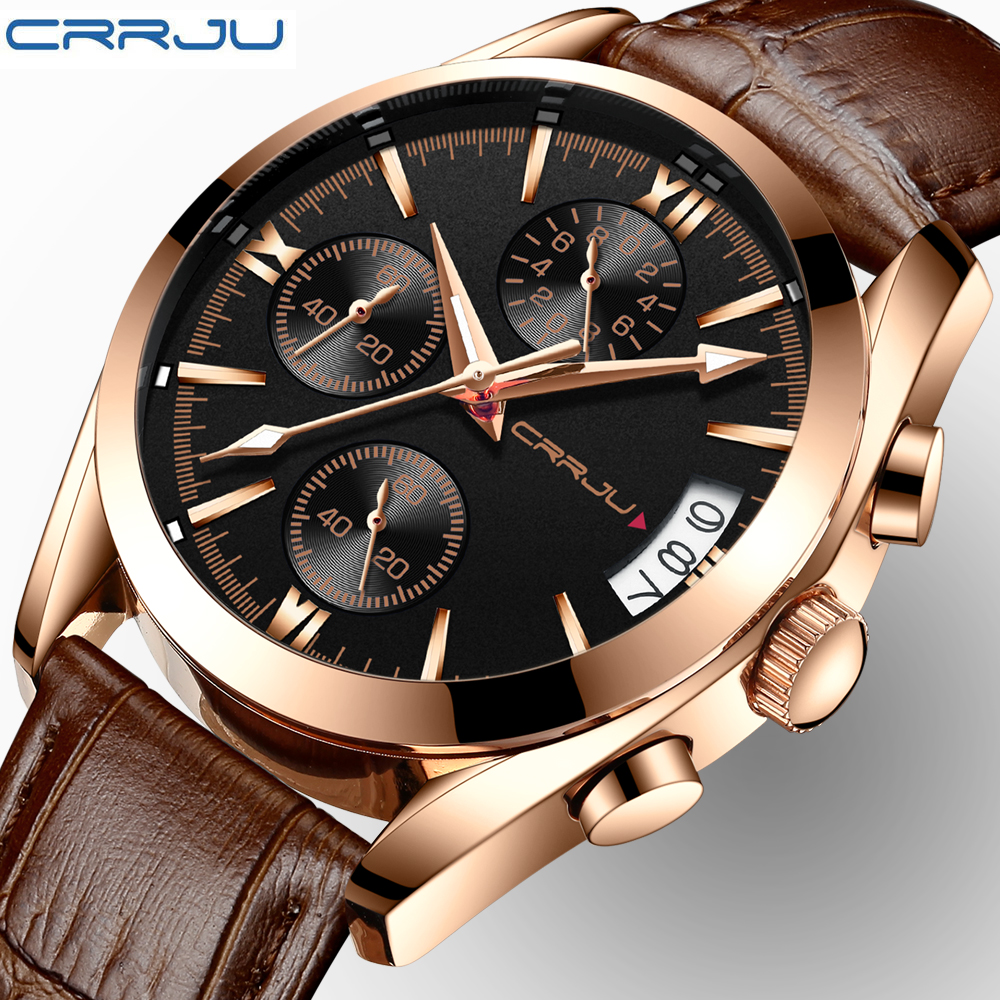 CRRJU Women Watches Men Top Brand Luxury Quartz Watch Women Fashion Casual Luminous Waterproof Clock Sport Relogio Feminino