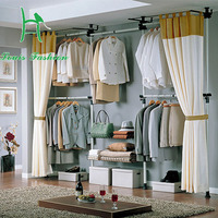 Korean Simple Wardrobe Home Sitting Room Clothes Tree Hangers Angle Frame Wrought Iron Frame Simple Hanger