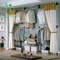 Coreano simples roupeiro sala de estar em casa cabides de roupa árvore quadro Ângulo, estrutura de ferro forjado cabide simples vestiário