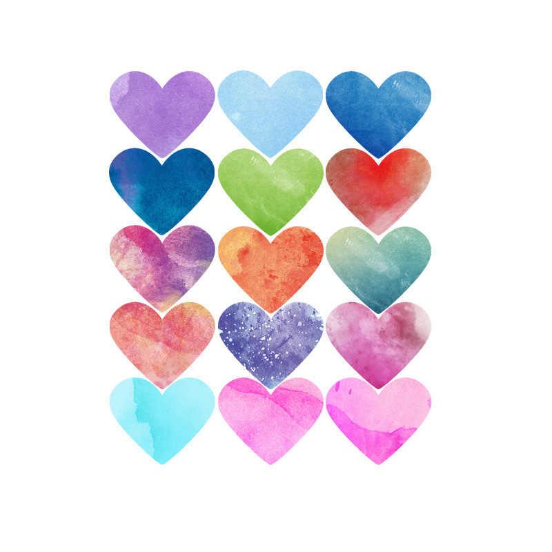 الشمال نمط الحب القلب الجدار ملصق المائية باليد رسمت خلفيات خزانة الثلاجة التلفزيون خلفية ملصق صائق ديكور المنزل