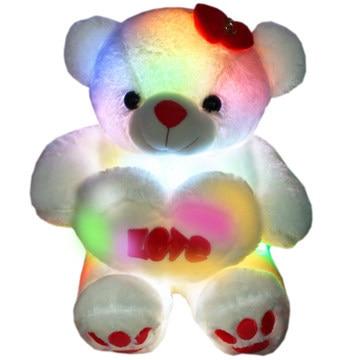 colorful music luminous teddy bears stuffed teddy bear cute bear hug heart birthday