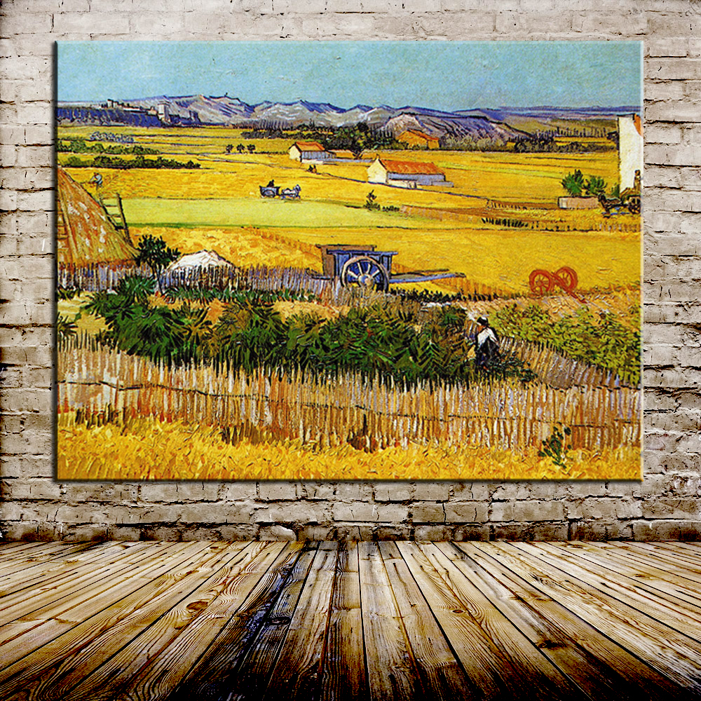 online get cheap painting harvest aliexpress com alibaba group handmade the harvest wheatfields reproduction vincent van gogh oil painting on canvas for home decor world famous paintings
