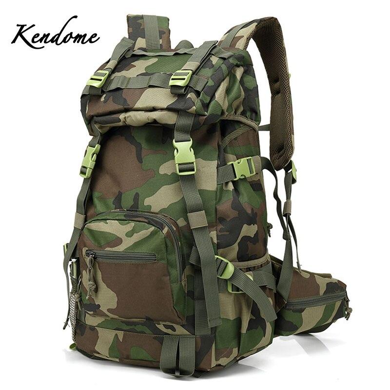 Prix pour 40L Tactique Militaire Sac À Dos Vert Armée Camouflage Sports de Plein Air Sacs Femmes Hommes Trekking Camping Pêche Sac À Dos XA205WD
