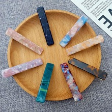 Ubuhle Korean Acetate Plate Hairpins Ladies Elegant Hair Clips Japanese Sweet Short Accessories Fashion Printed HeadWear