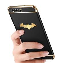 BFOLLOW Batman 3 in 1 Hard Case for Huawei P10 P10 Lite P Smart P9 Lite