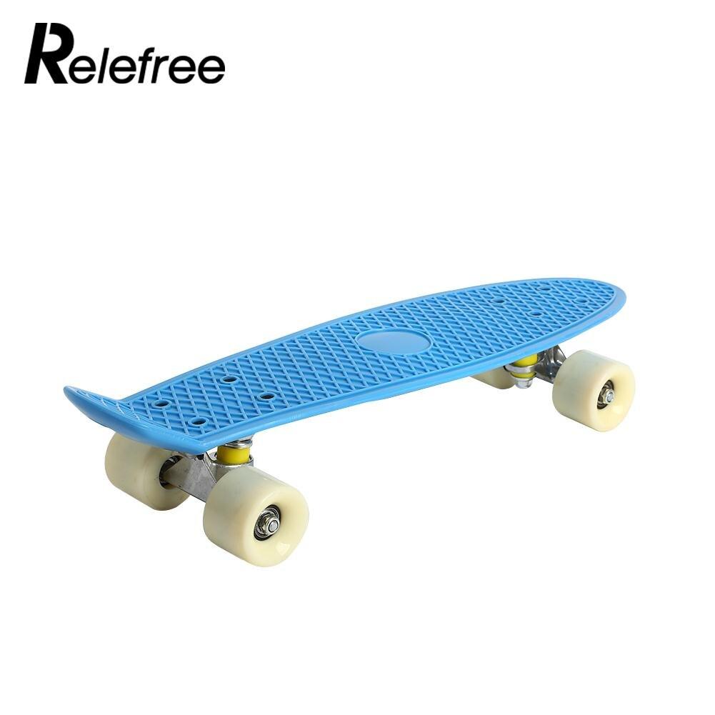 Quatre Roues De Planche À Roulettes Durable Pp Longboard Skate Board Pratique Unique À Bascule Adolescents Portable Planche À Roulettes Pont 3 couleur