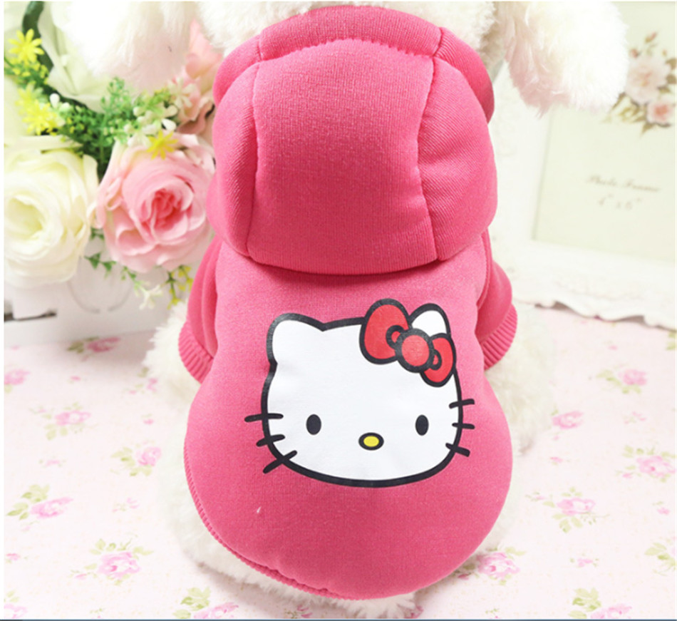 D89 New Cute Warm Dog Clothes Autumn Winter Pet Dog Hoodie Coat Soft Cotton Puppy Dog sweater Jacket For Yorkshire Chihuahua