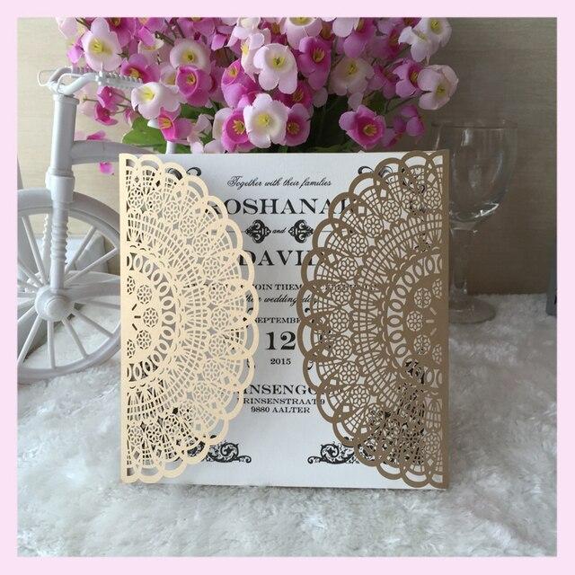 50 Teile/los Kundenspezifische Party Dekoration Laser Ausgeschnitten  Chinese Papiermodelle Party Hochzeit Geburtstag Einladung Papier