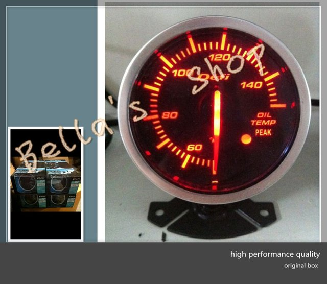 DEF ORIGINAL COLOR BOX  BF SERIES  oil temperature AUTO RACING GAUGE  LED brightlight (red and white)