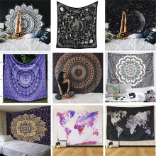 Polyester Mandala Print Tapestry Wall Hanging Carpet Throw Yoga Beach Mat Blanket Large 150*200cm Sleeping pad wall art Tapestry(Hong Kong,China)