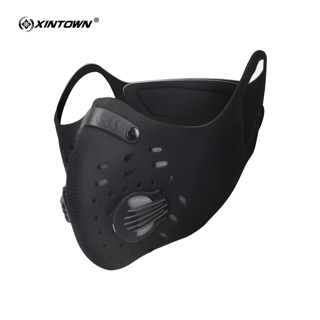 XINTOWN Cycling Masks Activated Carbon Anti-Pollution Mask Dustproof Mountain Bicycle Sport Road Cycling Masks Face Cover