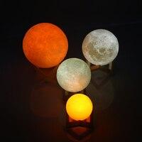 ประชุมผู้ถือหุ้นLEDไฟกลางคืน3Dพิมพ์ดวงจันทร์โคมไฟLuna