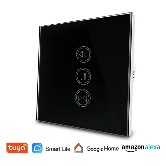 Tuya Smart Life WiFi interruptor de cortina para cortina motorizada eléctrica persiana enrollable, Google Home, alexa de Amazon, Control de voz
