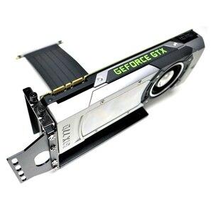 Image 5 - Cartes graphiques adt link support Vertical PCIe 3.0x16 carte graphique vidéo vers PCIe 3.0x16 câble dextension de fente pour ATX pc case