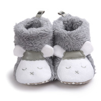 baby shoes winter boots  infant Soft hairy warm shoes toddler girl boy Cartoon Dairy cow style Soft Soled  newborn first walkers Baby's First Walkers