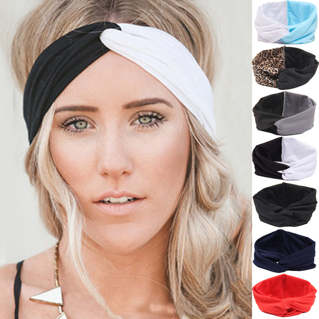 658bccd123f New Girls Hair Accessories Twist Turbans Headband for Women Elastic Bow  Hairbands Head Band Yoga Headbands