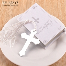 1pcs Bookmarks Party Favors DIY Wedding Return Wholesale Small Gift Metal Bookmarks Promotion Small Gift Book Cross Bookmarks цена 2017