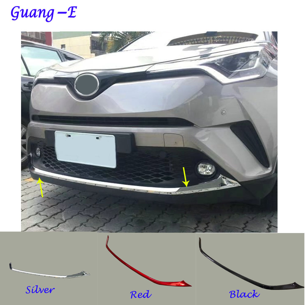 For Toyota C-HR 2017 2018 car body ABS chrome License plate trim racing Grid Grill Grille hoods panel frame bumper 1pcs racing grills version aluminum alloy car styling refit grille air intake grid radiator grill for kla k5 2012 14