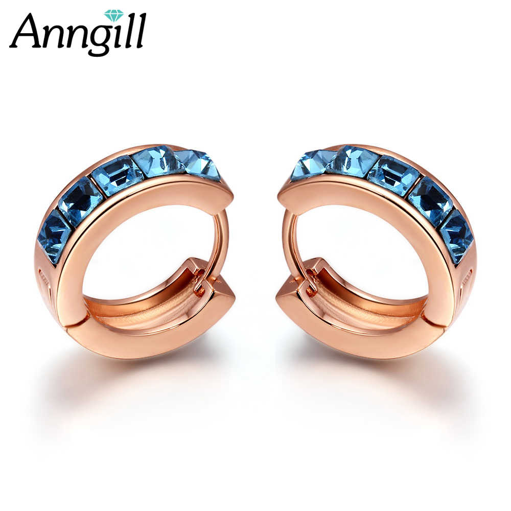 b1a1ab682 New Arrival Crystal From Swarovski Luxurious Hoop Earring Ladies Fashion  Shining Crystal Earrings For Women Wedding