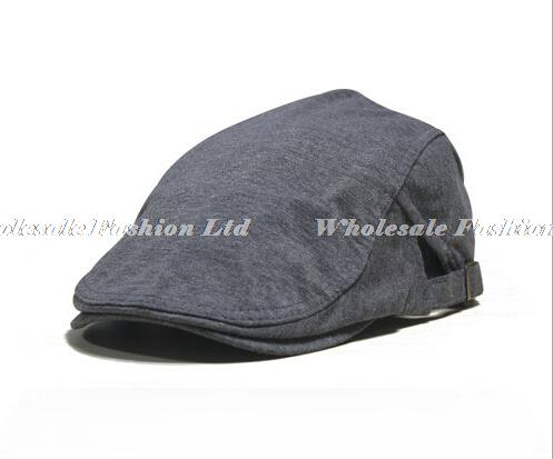 5a66d7ecf9e Wholesale 10pcs lot Style Men Spring Flat Caps Women Summer Black Cotton Hats  Mens Blank Flatcap Trendy Ladies England Flat Cap-in Berets from Apparel ...