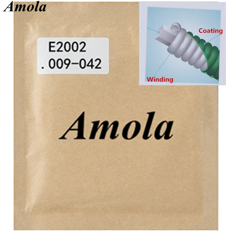 Amola E2002 Electric Guitar Strings 009-042 with Coating Musical Instrument Guitar Accessories 1 Set