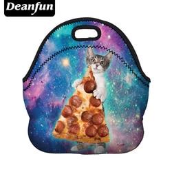 Deanfun Frauen Mittagessen Taschen Neopren 3D gedruckt Galaxy Muster Wasserdicht mit Reißverschluss für Lebensmittel Paket 50827