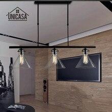 วินเทจจี้อุตสาหกรรมไฟแสงเหล็กดัดบาร์โรงแรมเกาะห้องครัวแก้วไฟLEDโบราณจี้โคมไฟเพดาน