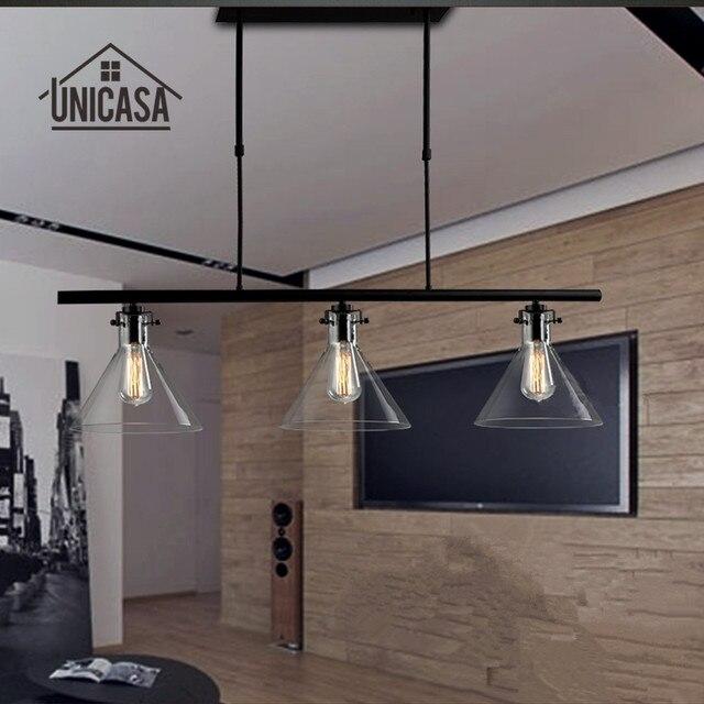 Vintage industrial Lámparas colgantes hierro forjado Iluminación bar ...