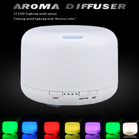 Hot Selling Free Shipping Color Change Essential Oil Aroma Diffuser Ultrasonic Air Humidifier 15 Led Lighting