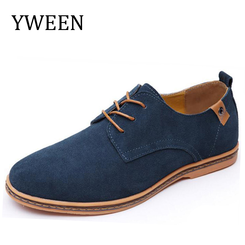 YWEEN Top Fashion Men Casual Shoes Spring Autumn Nubuck Leather Flock Leisure Shoe Hot Sale Promotion