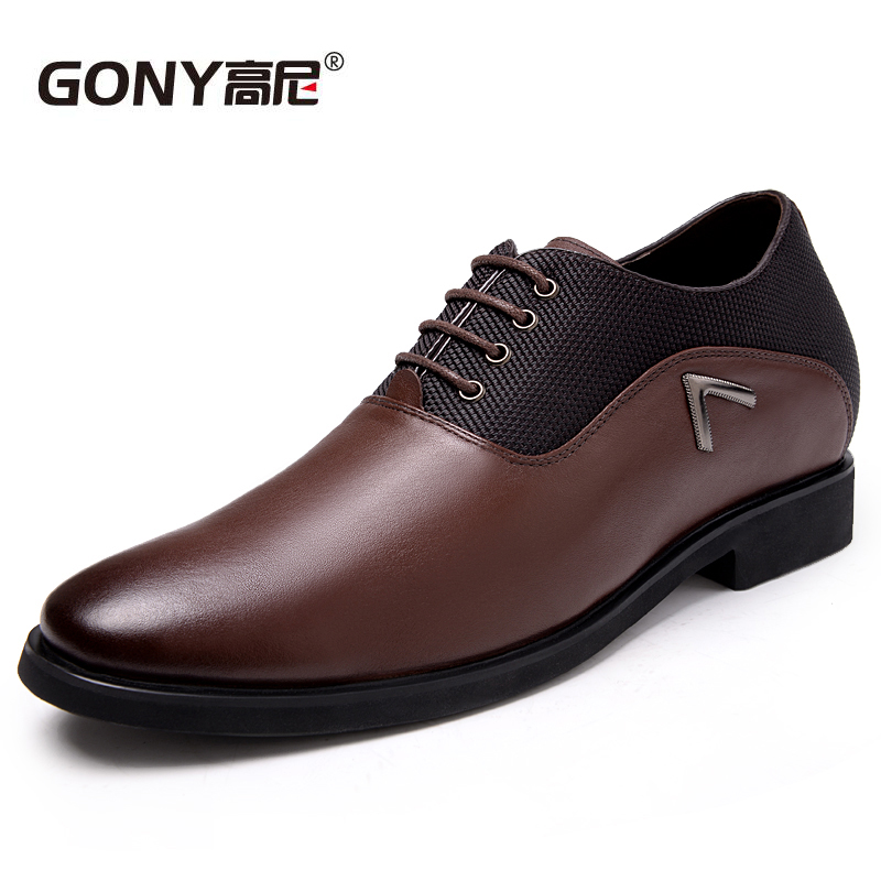 GN112628 Fashion Men Calf Leather Shoes in Height Increasers Elevated Shoes Men s Party Wedding Shoes