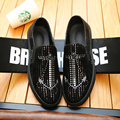O novo afluxo de homens sapatos outono onda de maré marca Peas sapatos discotecas personalidade selvagem preto de um pedal