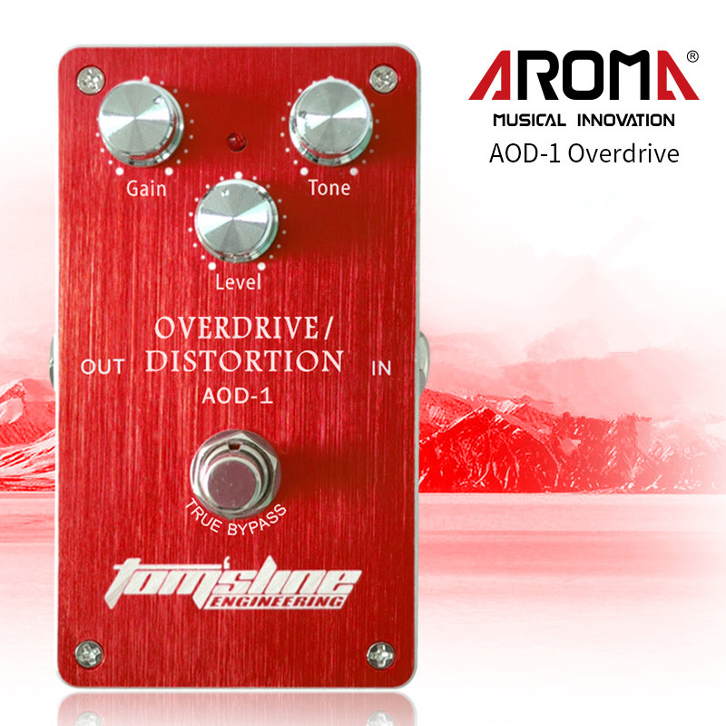 Aroma AOD-1 Overdrive Distortion Electric Guitar Effect Pedal Aluminum Alloy Housing True Bypass aroma tom sline abr 3 mini booster electric guitar effect pedal with aluminum alloy housing true bypass durable guitar parts