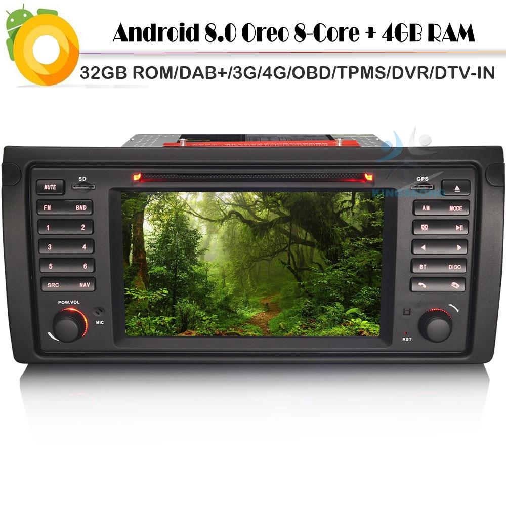android 8 0 autoradio dab sat nav car cd player for bmw x5 e53 wifi 4g gps radio rds bt usb sd
