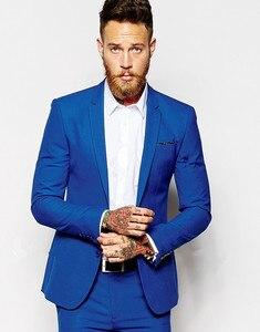 Image 2 - Kostüm Homme Terno Masculino Smoking Slim Fit Männer Anzüge Neueste Design Hochzeit Anzüge für Männer 3 stücke (Jacke + hose + Tie)