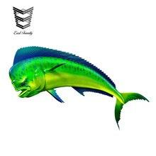 EARLFAMILY 15 см X 9 см Coryphaena hippulus Наклейка 3D автомобиль Стайлинг виниловые наклейки на машину Графический Декор окна бампер автомобиля кузова наклейки