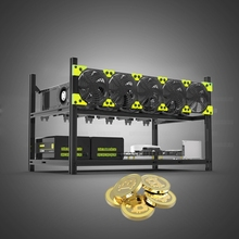 цена на Server Rack 6 GPU Mining Rig Case Open Aluminu Miner Frame Air Rack For ETH/ETC ZCash Computer Chassis Unassembled Stackable