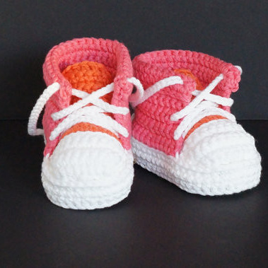 QYFLYXUEHandmade Baby Boys Crochet Booties  Knitted Sport Shoes Soft Sole Indoor Casual Shoes Cotton