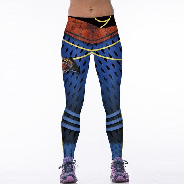 NEW 88008 Sexy Girl Women Comics Superhero Superman S Vintage mesh 3D Prints High Waist Workout Fitness Leggings Pants