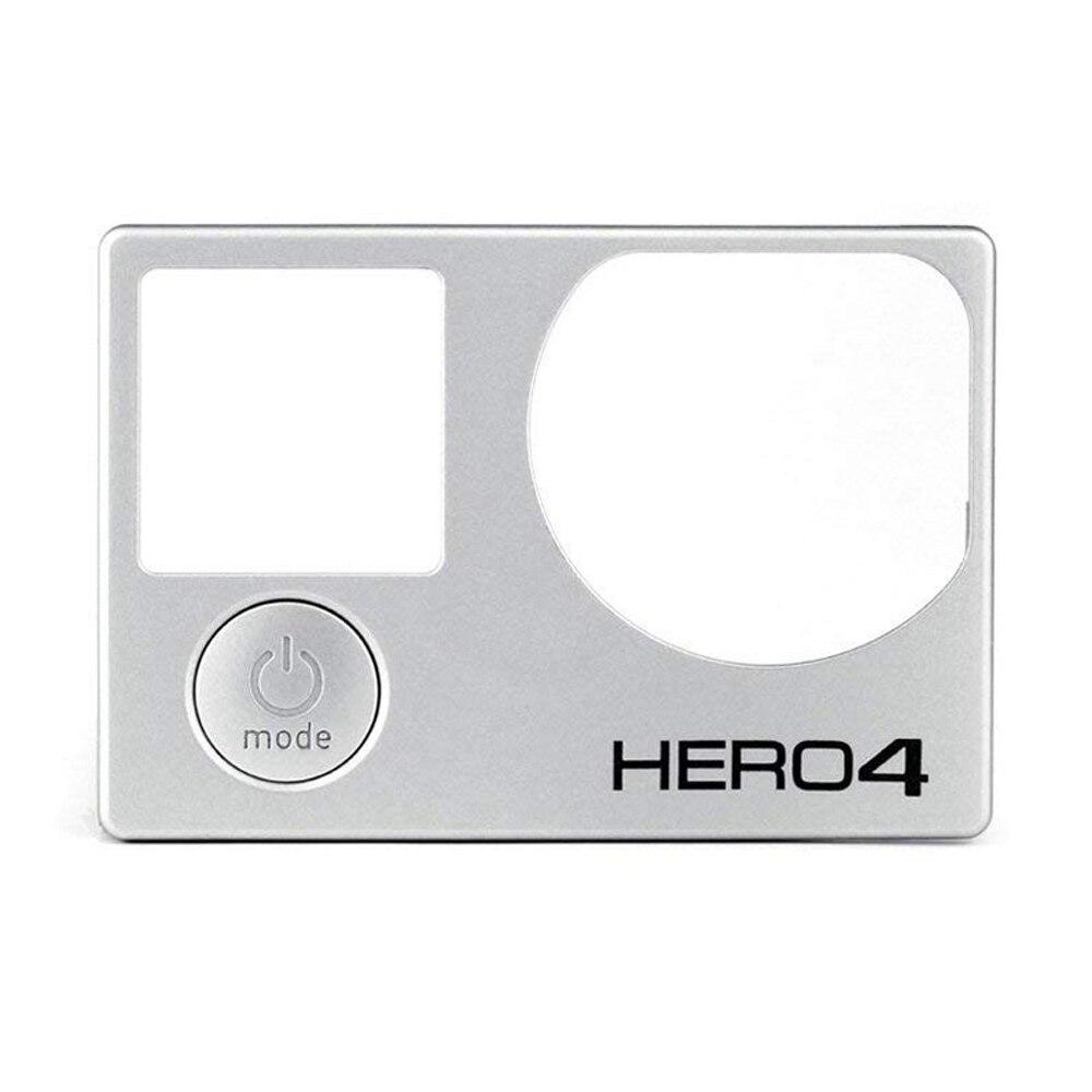 Kit de reparo para Frente Placa GoPro Substituição Faceplate 100% Brand New Original Painel Frontal Capa para GoPro Herói 4 Preto /prata