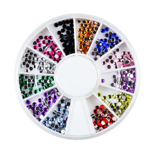2mm 12 Color Diamond Nail Art Styling Tools Decorations Glitter Rhinestones Jewelry DIY Dress Bag Cell Phone Case Wholesale