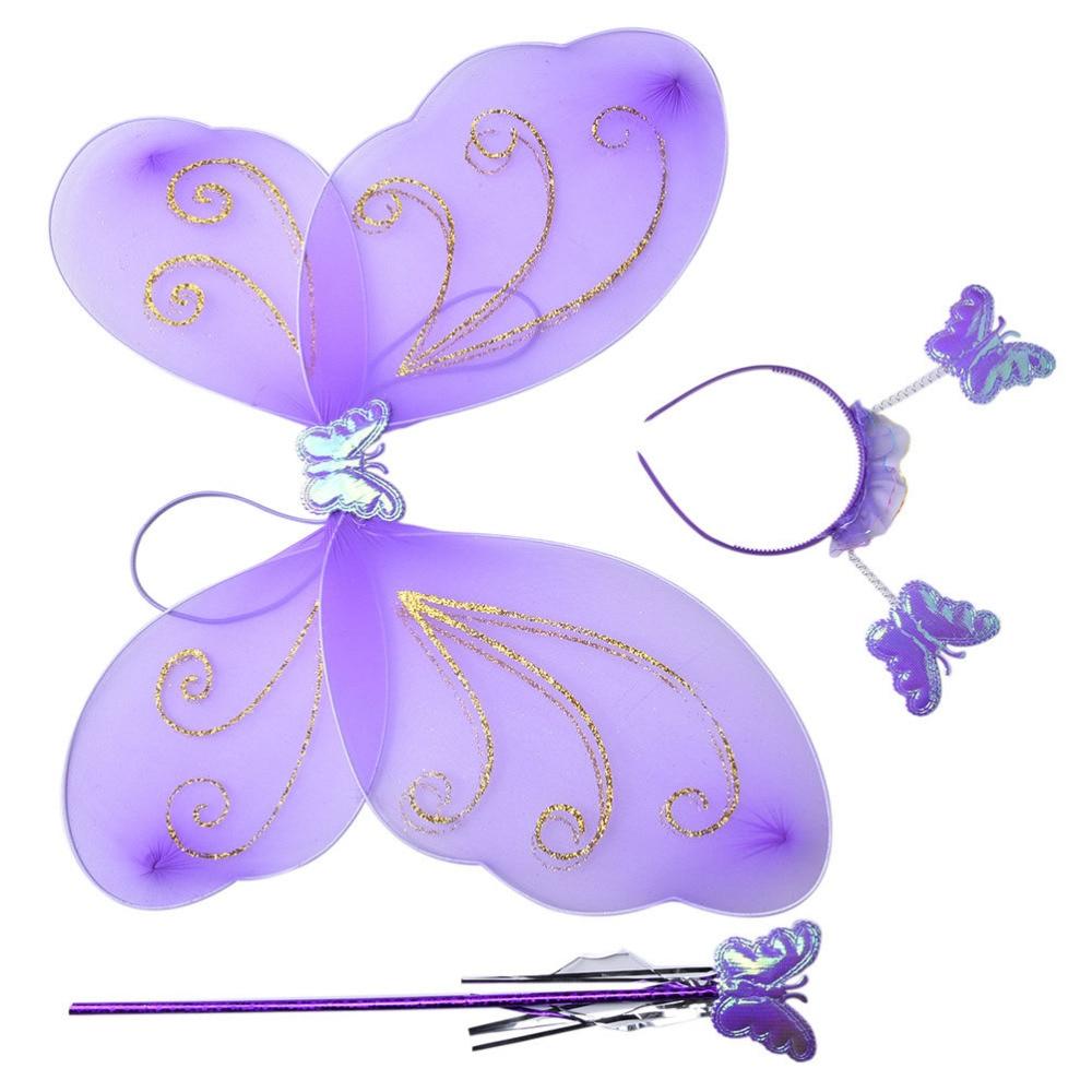 Purple white gold wrap wand